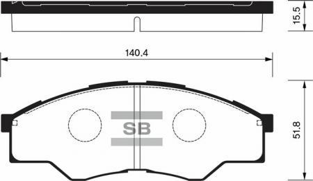 Тормозные колодки дисковые SP1276 SP1276