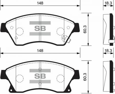 комплект колодок тормозных передних SP1362