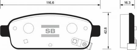 Колодки тормозные CHEVROLET CRUZE / LACETTI PREMIER задние SP1363