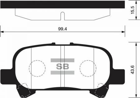 комплект колодок тормозных задних SP1364