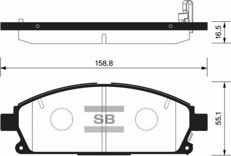 комплект колодок тормозных передних SP1365