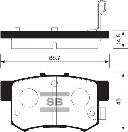 комплект колодок тормозных задних SP1368
