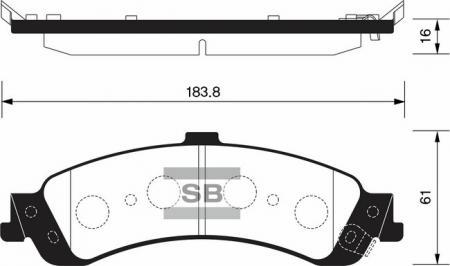 комплект колодок тормозных задних SP1370