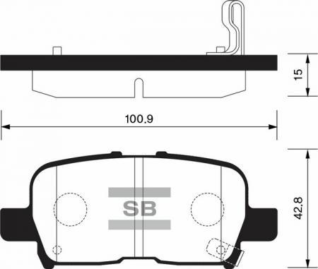 комплект колодок тормозных задних SP1371