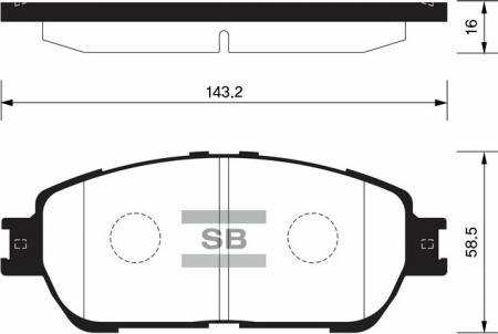 комплект колодок тормозных передних SP1372