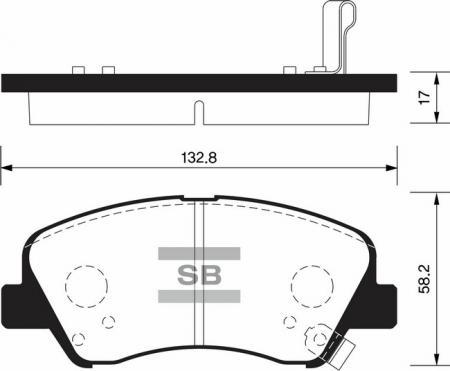 Колодки тормозные HYUNDAI SOLARIS 10- передние SP1399