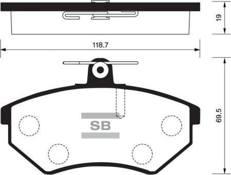 Колодки тормозные дисковые комплект 4 шт. SP-2005