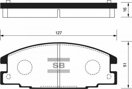 Колодки тормозные передниеIsuzu Rodeo 91-95 / / Opel Campo 91- SP2010