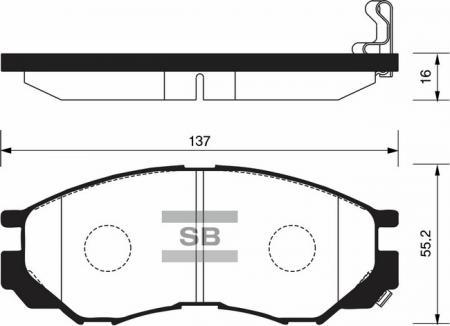 комплект колодок тормозных передних SP2011