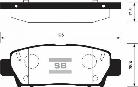 комплект колодок тормозных задних SP2022