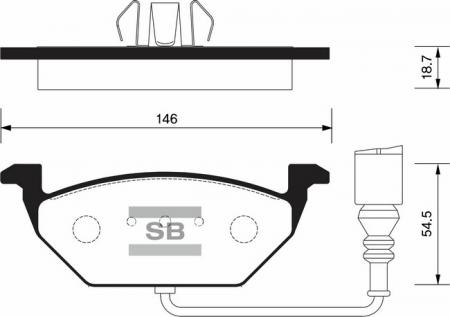 комплект колодок тормозных передних SP2025