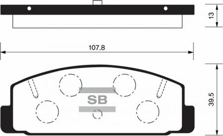 HI-Q SP2028 Колодки тормозные задние Mazda 6, 323 98- 626 89-02 Premacy 01-05 RX-7 SP2028