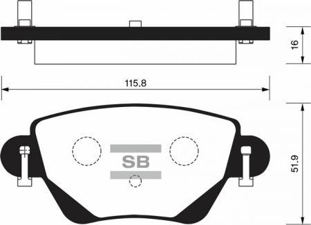 комплект колодок тормозных задних SP2031