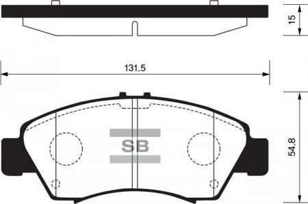 Колодки тормозные передниеHonda Civic lV, V 91-01 / Jazz l 02- SP2032