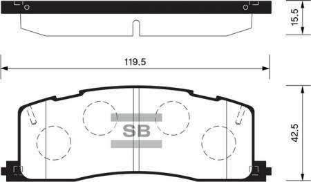 комплект колодок тормозных задних SP2036