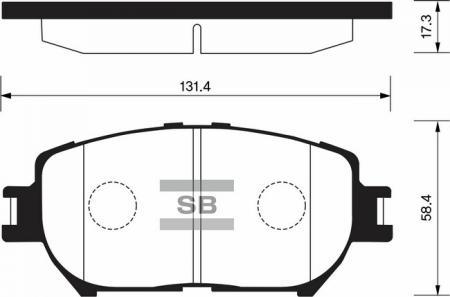 HI-Q SP2037 Колодки тормозные передние Camry 01- SP2037