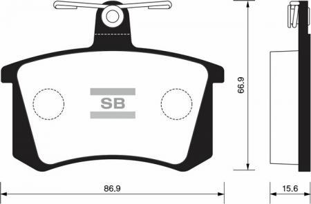 комплект колодок тормозных задних SP2050