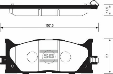 комплект колодок тормозных передних SP2080