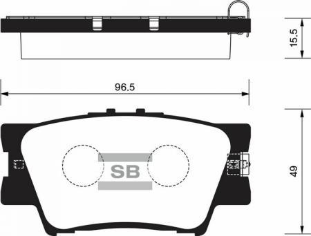 комплект колодок тормозных задних SP2081
