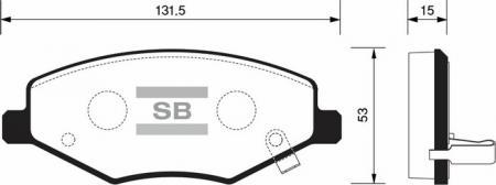 комплект колодок тормозных передних SP2092