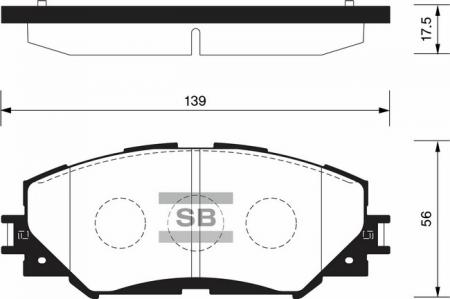 Колодки тормозные TOYOTA AURIS 06> / COROLLA 02> / RAV 4 06> передн. комплект SP-2093