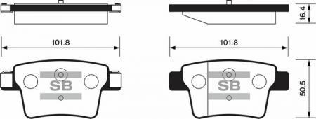 Тормозные колодки дисковые SP2095 SP2095