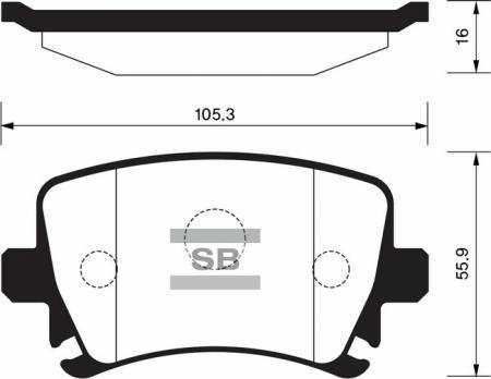 Колодки тормозные передниеSkoda Octavia ll / Superb / / VW Caddy SP2099