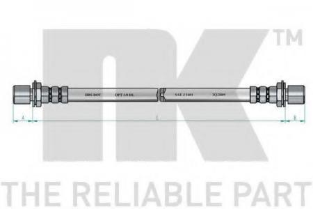 шланг тормозной передний Toyota Hi-Lux 2.0 / 2.4D 81-97 L=470 854564