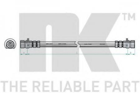 шланг торм. пер. Land Rover Discovery 3.5/2.5TD 93> L=387 854007