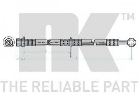 шланг тормозной передний Rover 200 / 400 all 90> L=500 859942