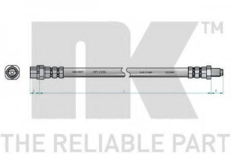 Шланг торм. пер. BMW X5 3.0-4.8 / 3.0D 00 -> L=510 851519