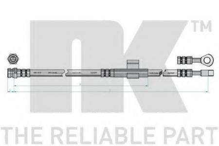 шланг тормозной передний п. Hyundai Sonata 3.0 V6 98> L=615 853432