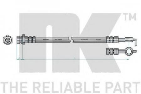 шланг тормозной задний  KIA Clarus 96-97 L=530 853502