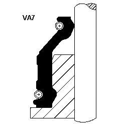 Комплект маслосъемных колпачков для Ford Transit 2.4D <86 / 2.5D 86> 9x14, 7 / 19x14 (1) 12012351