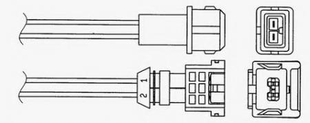Лямбда-зонд (кислородный датчик) 1755