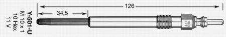 Свеча накала для AUDI A4 / A6 / A8 / VW Passat / SKODA Superb 2, 5TDI / 3, 3TDI 4187