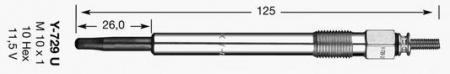 Свеча накала для LAND ROVER Discovery I / II 2, 5TDI 09 / 89-> 4119