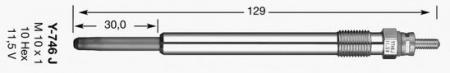 Свеча накала для MERCEDES W168 1, 6CDI / 1, 7CDI 07 / 98-08 / 04 3078