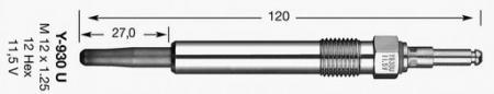 Свеча накала для MERCEDES W124 / W202 / W210 / W140 200D / 220D / 250TD / 300TD 4275