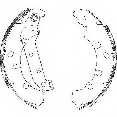 Колодки барабанные Ford Fiesta 1.3i-1.4TDCi 01 -> 4137.00 REMSA