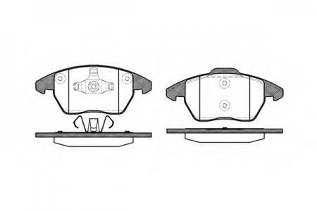Колодки дисковые п. Citroen C4, Peugeot 307 2.0i / HDi 03 -> 103010