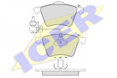 Комплект тормозных колодок, дисковый тормоз, 141350