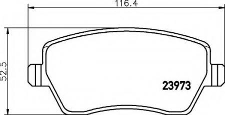 Тормозные колодки Nissan, Renault (23973 17.3; т.с. Lucas) дисковые, комплект, 8DB 355 010-851