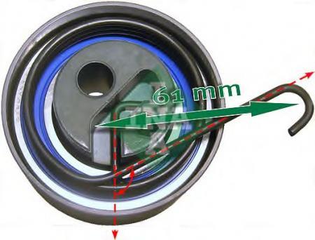 натяжной ролик ГРМ 531053520