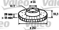 Тормозной диск VALEOТормозные диски<br><br>