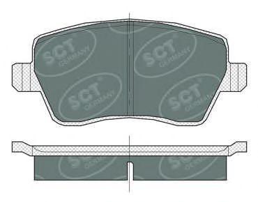 Тормозные колодки (комплект 4 шт.) SP 383 SP383