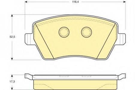 Комплект тормозных колодок, дисковый тормоз, 6133321
