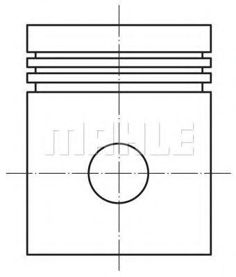Поршень в сборе 76, 00 мм ВАЗ 2101-03, 1100-1500 для ВАЗ 4481000