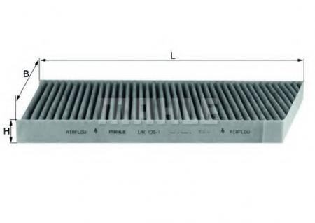Фильтр салонный MB W203 01> LAK129/1