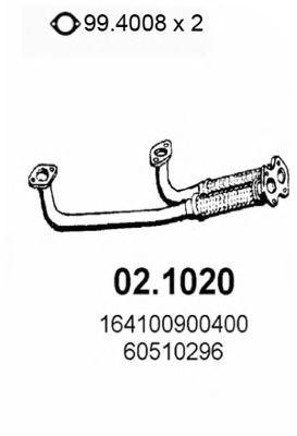 Труба приемная выпускная ALFA 164 30.V6 1987 02.1020